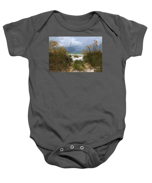 Island Trail Out To The Beach Baby Onesie