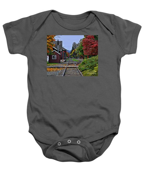 Issaquah Train Station Baby Onesie
