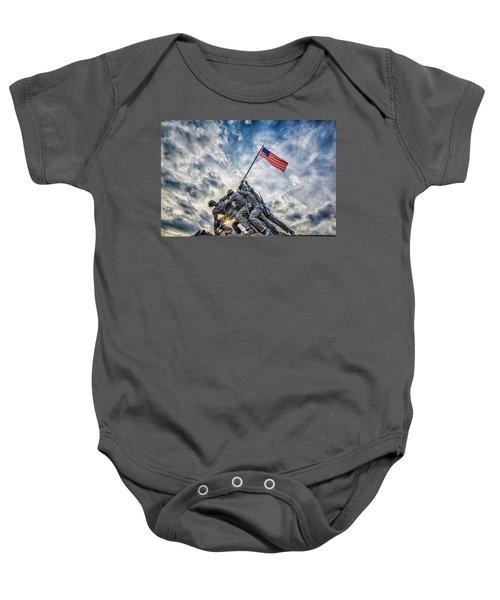 Iwo Jima Memorial Baby Onesie