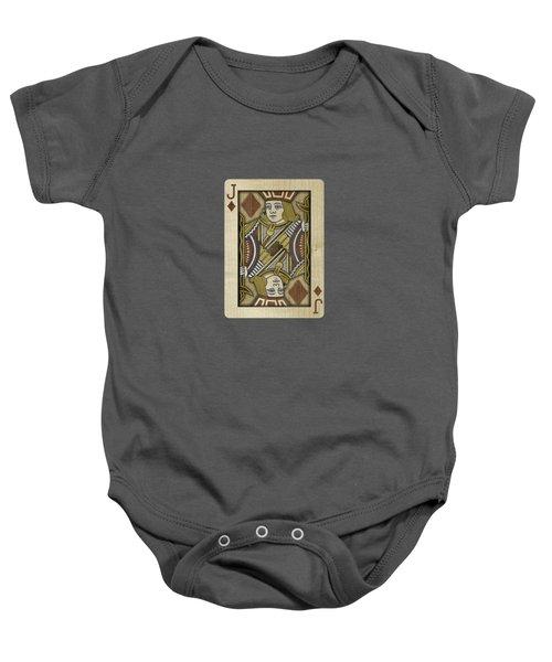 Jack Of Diamonds In Wood Baby Onesie