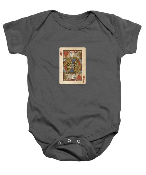 Jack Of Hearts In Wood Baby Onesie