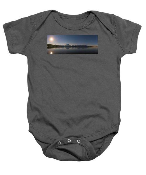 Jackson Lake Moon Baby Onesie