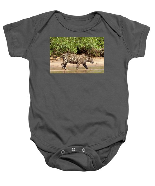 Jaguar Walking On A River Bank Baby Onesie