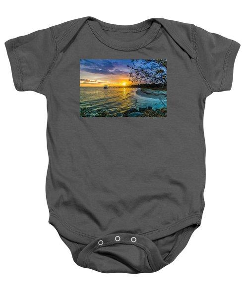 James Island Sunrise - Melton Peter Demetre Park Baby Onesie