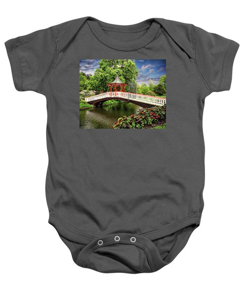 Japanese Bridge Garden Baby Onesie