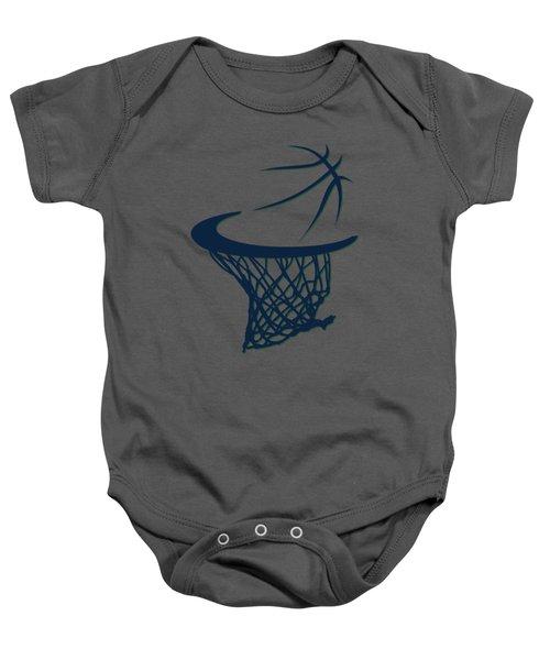 Jazz Basketball Hoop Baby Onesie
