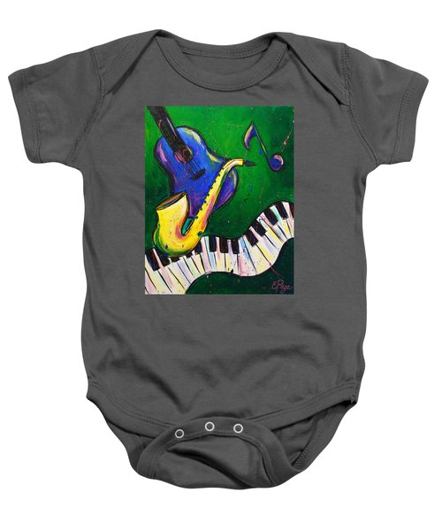 Jazz Time Baby Onesie