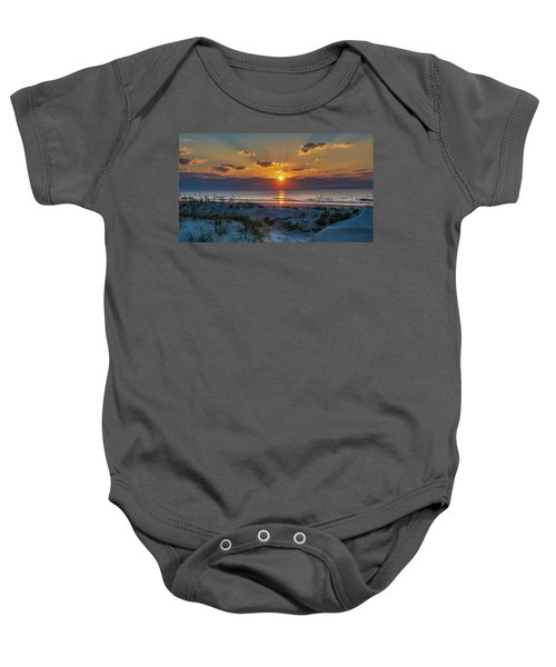 Jekyll Island Sunrise Baby Onesie
