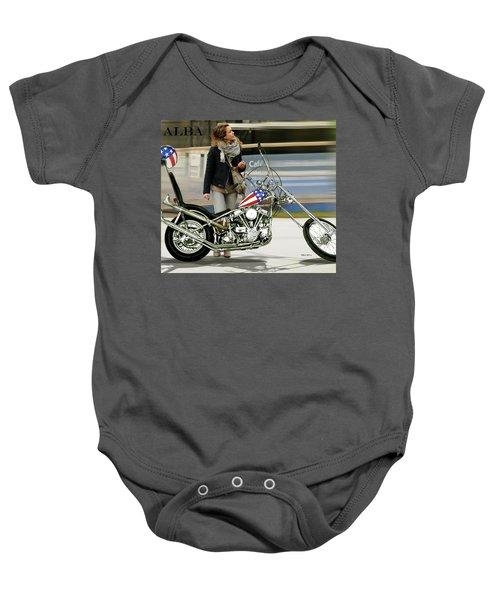 Jessica Alba, Captain America, Easy Rider Baby Onesie