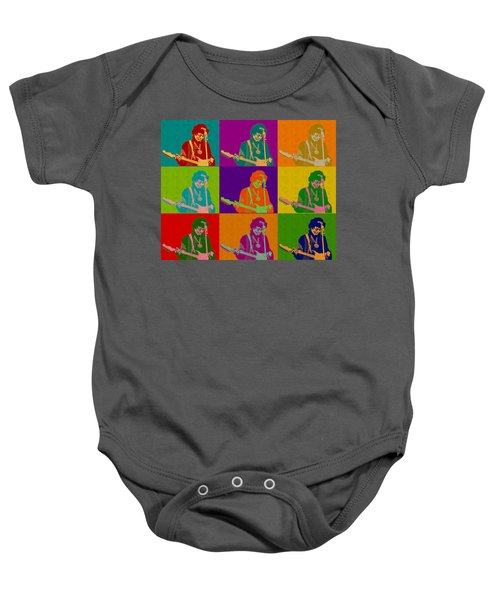 Jimi Hendrix In The Style Of Andy Warhol Baby Onesie