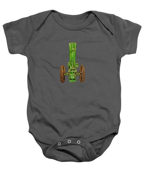 John Deere Top On Black Baby Onesie