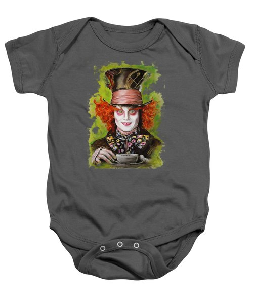 Johnny Depp As Mad Hatter Baby Onesie