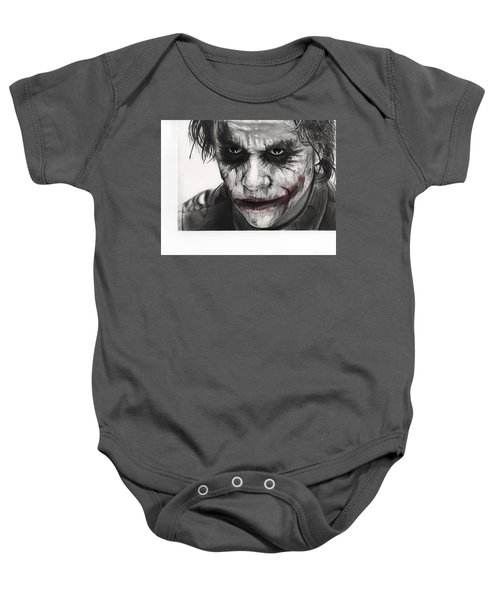Joker Face Baby Onesie by James Holko