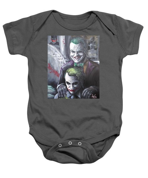 Jokery In Wayne Manor Baby Onesie by Tyler Haddox