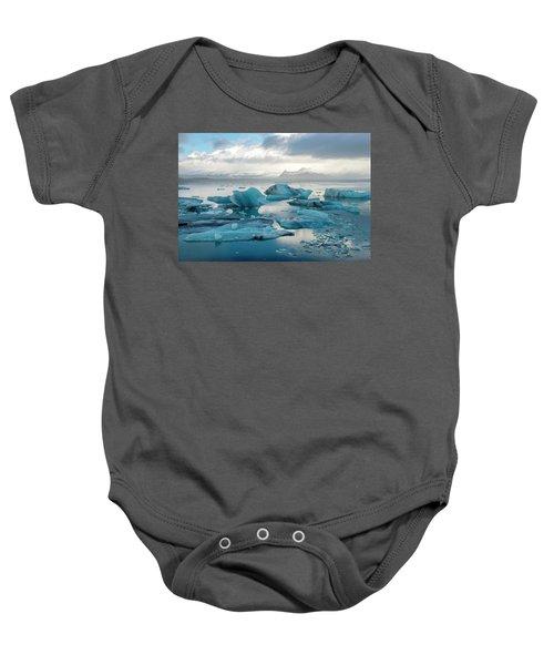 Jokulsarlon, The Glacier Lagoon, Iceland 6 Baby Onesie by Dubi Roman