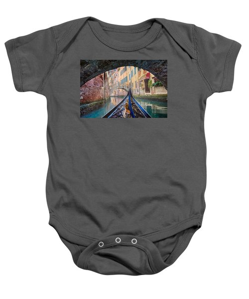 Journey Through Dreams - A Ride On The Canals Of Venice, Italy Baby Onesie