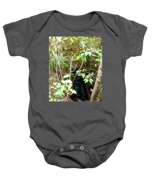 Baby Onesie featuring the photograph Jungle Stream by Francesca Mackenney