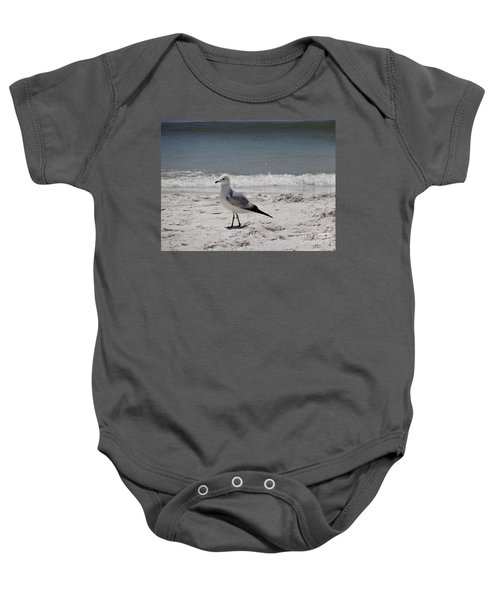 Just Strolling Along Baby Onesie by Megan Cohen