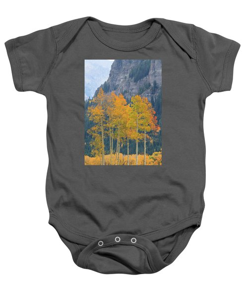 Just The Ten Of Us Baby Onesie by David Chandler