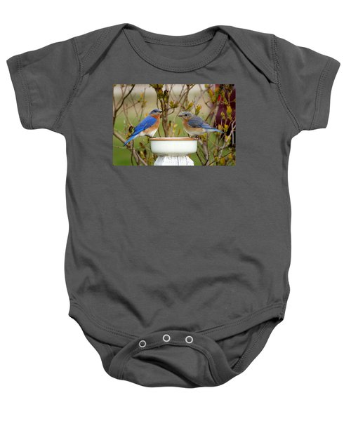 Just The Two Of Us Baby Onesie by Bill Pevlor