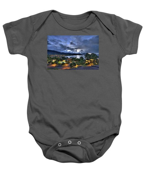 Kaneohe Bay Night Hdr Baby Onesie