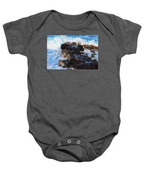 Kauai Rock Splash Baby Onesie