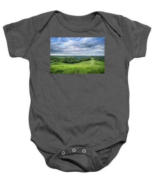 Kentucky Hills And Clouds Baby Onesie