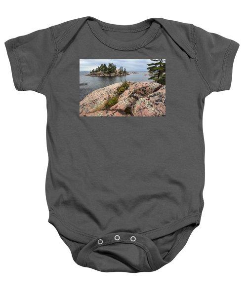 Killarney-island-pink Rocks-4539 Baby Onesie