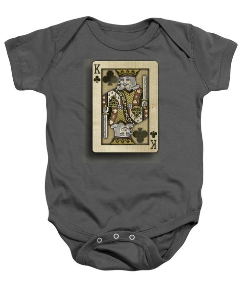 King Of Clubs In Wood Baby Onesie