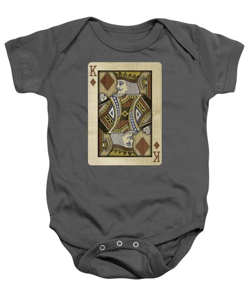 King Of Diamonds In Wood Baby Onesie
