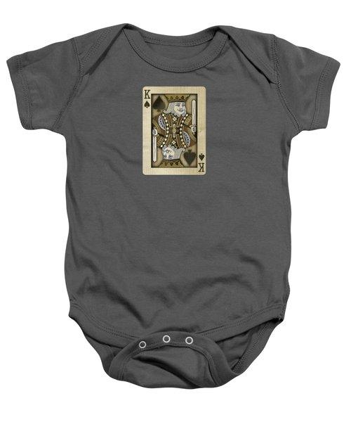 King Of Spades In Wood Baby Onesie