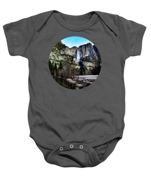 King Of Waterfalls Baby Onesie by Adam Morsa