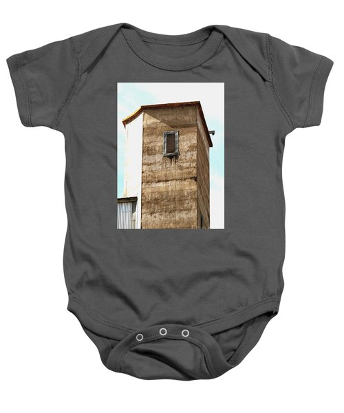 Baby Onesie featuring the photograph Kingscote Dungeon by Stephen Mitchell