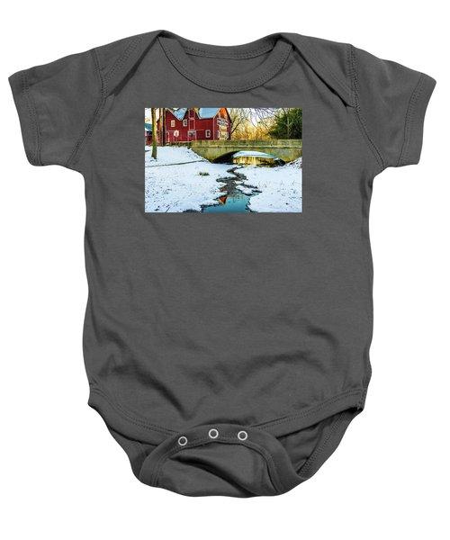 Kirby's Mill Landscape - Creek Baby Onesie