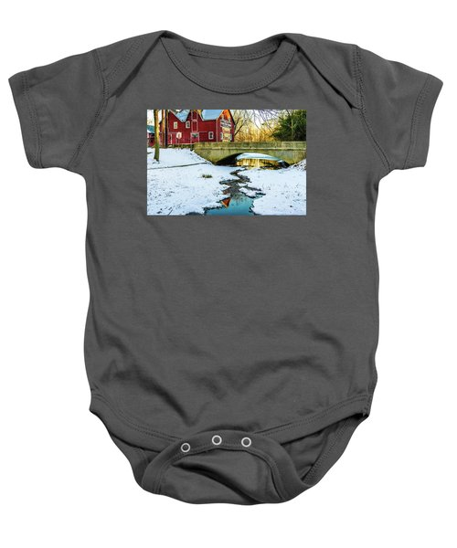Kirby's Mill Landscape - Creek Baby Onesie