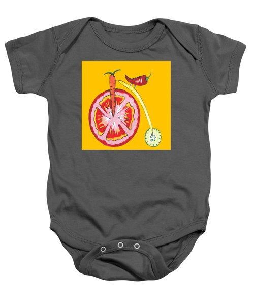 Kitchen Vegetable Art Baby Onesie