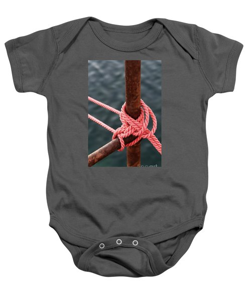 Baby Onesie featuring the photograph Knot On My Warf IIi by Stephen Mitchell