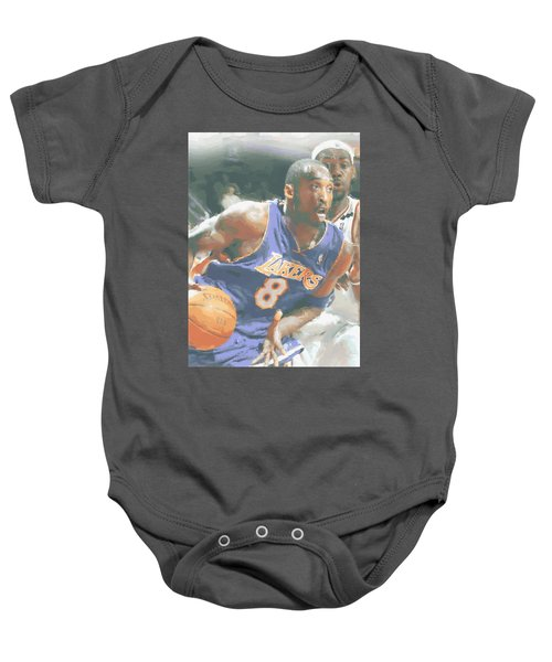 Kobe Bryant Lebron James Baby Onesie by Joe Hamilton