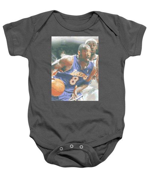 Kobe Bryant Lebron James Baby Onesie