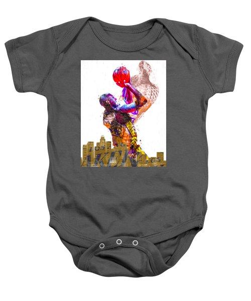 Kobe Bryant Los Angeles Lakers Digital Painting Snake 1 Baby Onesie
