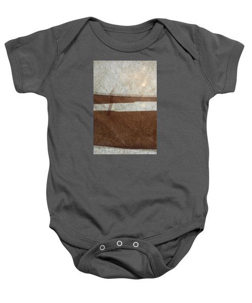 Kraft Paper And Screen Seascape Baby Onesie