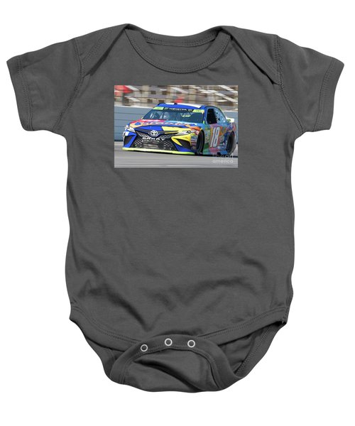 Kyle Busch Coming Out Of Turn 1 Baby Onesie