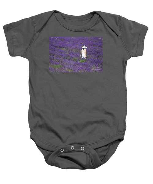 Lady In Lavender Field Baby Onesie