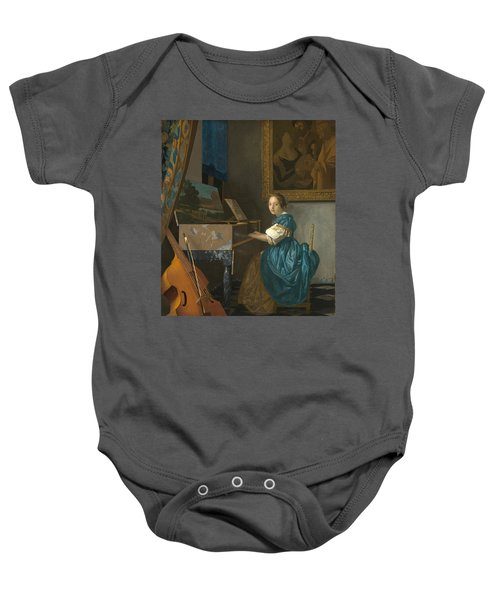 Lady Seated At A Virginal Baby Onesie