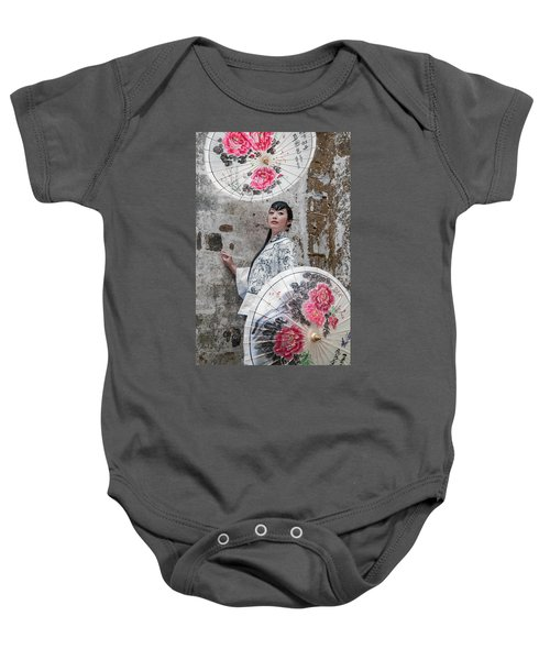 Lady With An Umbrella. Baby Onesie
