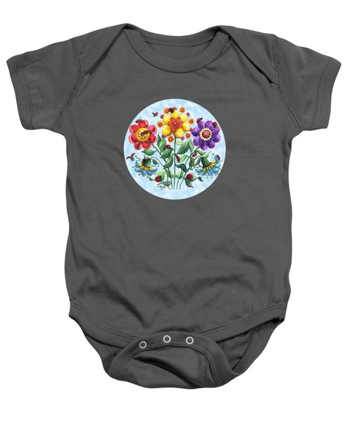Ladybug Playground On A Summer Day Baby Onesie by Shelley Wallace Ylst