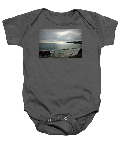 Laguna Beach Sunset Baby Onesie