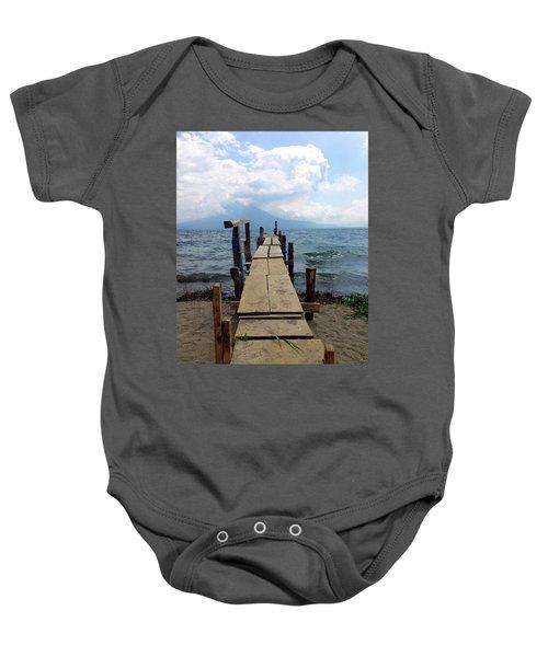 Lake Atitlan Dock Baby Onesie