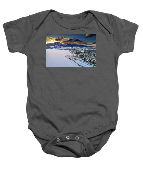 Baby Onesie featuring the photograph Lake Dillon Sunset by Sebastian Musial
