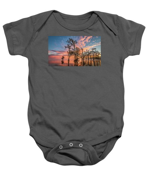 Lake Maurepas On Fire Baby Onesie